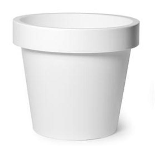 Plastic Bloempot Wit.Buiten Bloempot Linea Iris O50xh44 Cm Wit
