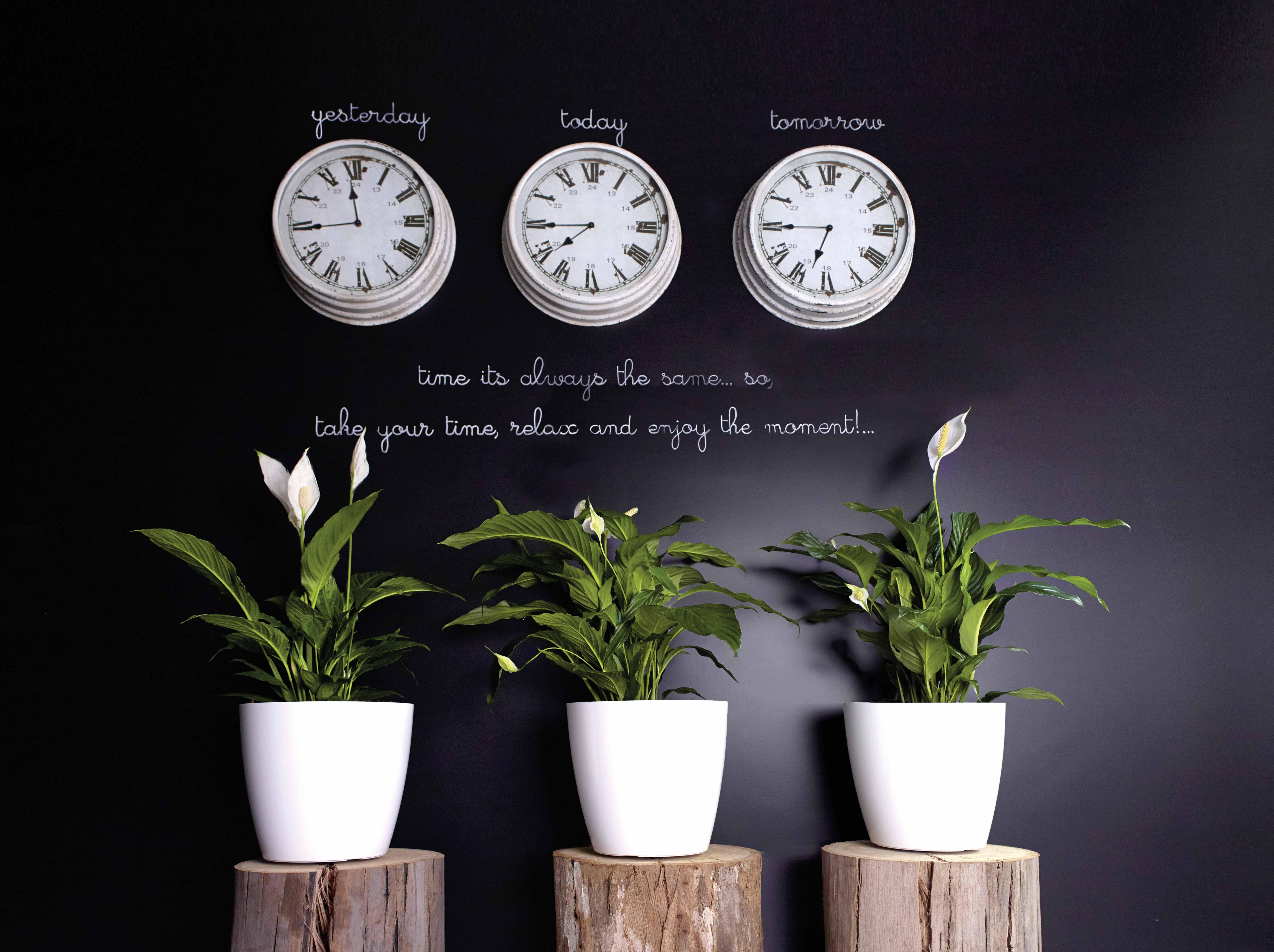 buiten bloempot san remo glossy 30xh27 3 cm wit met wieltjes