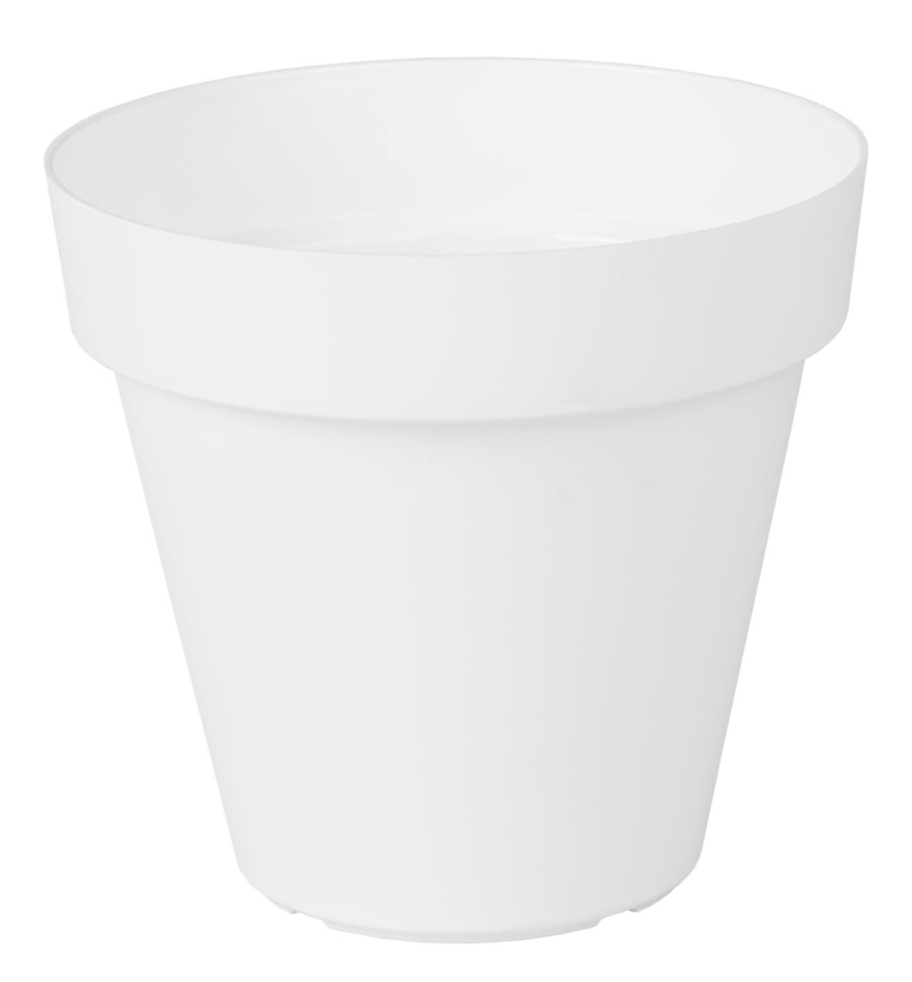 Plastic Bloempot Wit.Kunststof Buiten Plantenbak Rond In Kleur Wit O25cm 4 95