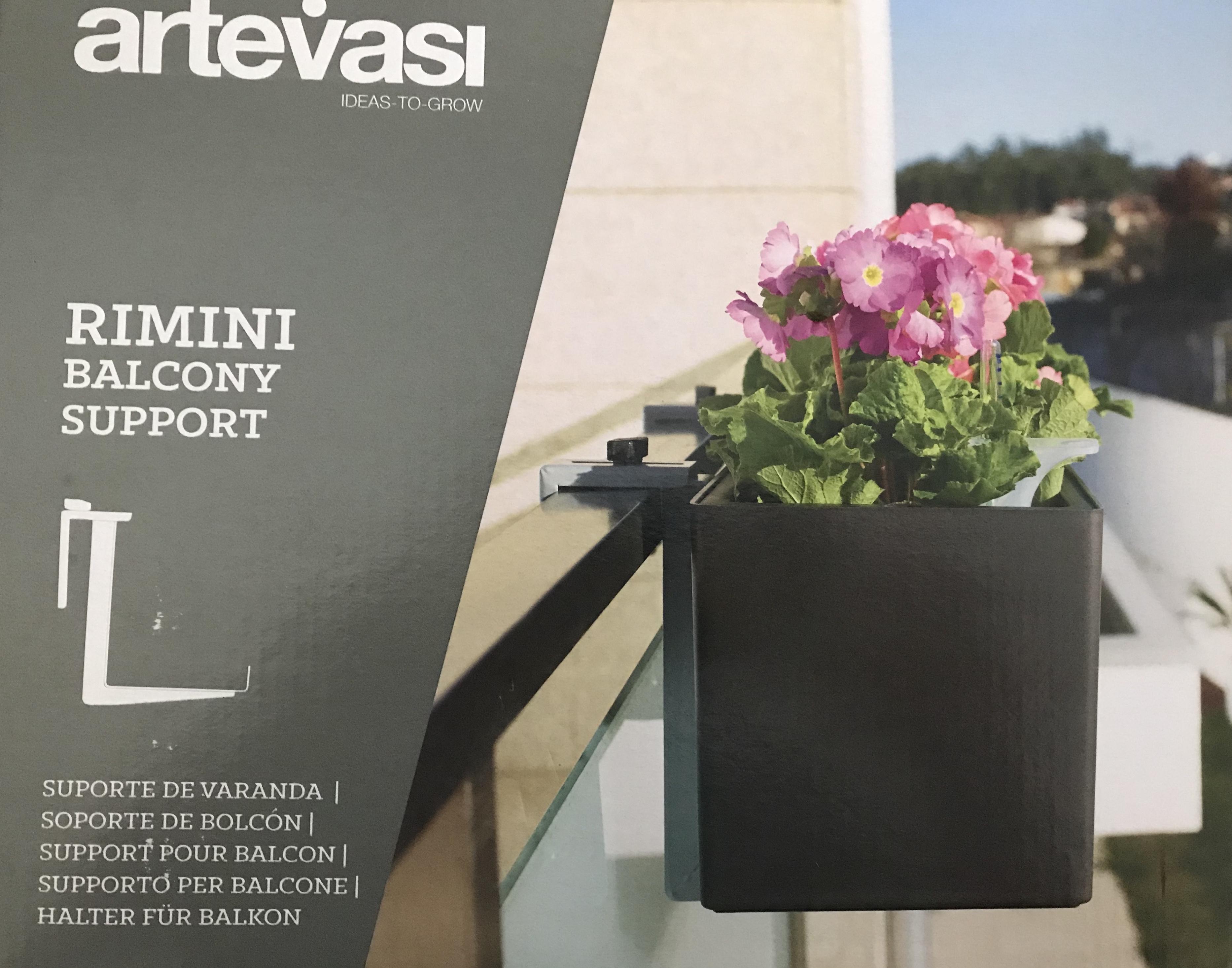 Artevasi Set Balkon Haken Voor Rimini Balkonbak Verstelbaar Grijs