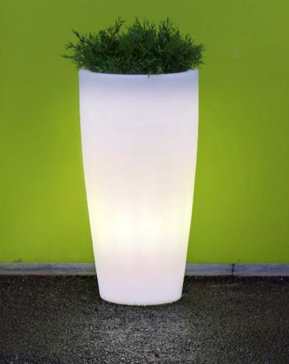 newgarden bambu 90 40xh90 cm verlichte bloempot