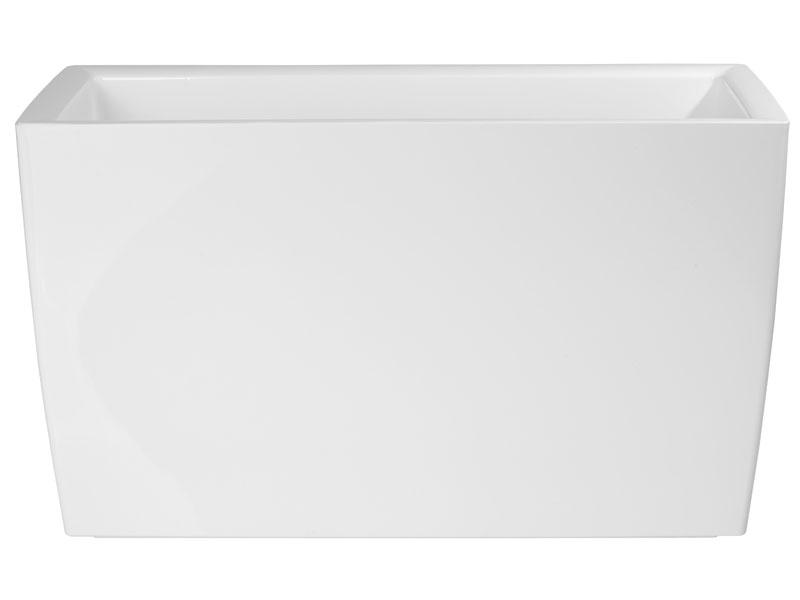 Bloempot Binnen Wit.Hoogglans Bloempot Wit