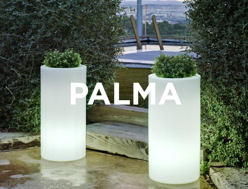 newgarden palma 70 35xh70 cm verlichte bloempot