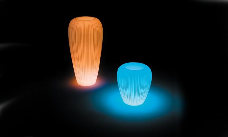 Bloempot Met Licht : Myyour skin pot verlichte bloempot Ø55xh60 cm wit licht