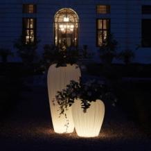 myyour skin pot verlichte bloempot 55xh60 cm wit licht