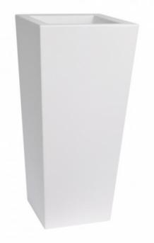 Plastic Bloempot Wit.Euro3plast Kiam 40x40xh90cm Wit