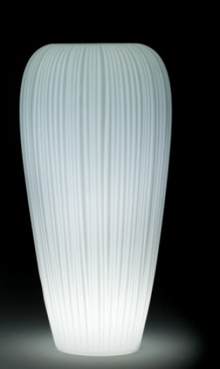 myyour skin pot verlichte bloempot 60xh120 cm wit licht